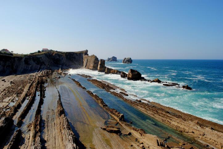 Arnia beach in Cantabria Spain