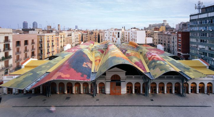santa caterina boqueria market in El Born quarter, barcelona