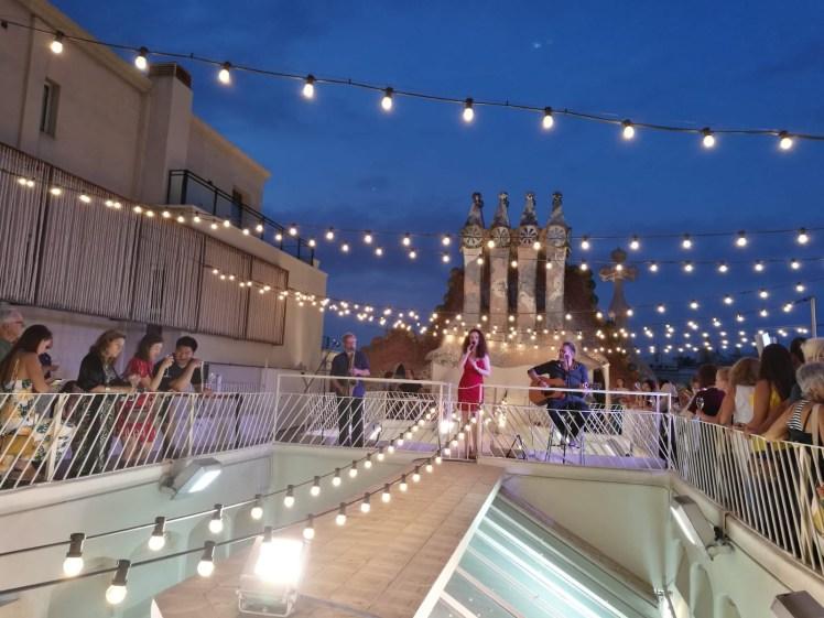 Casa Batllo Magic Nights concert on the rooftop with Carmen porcar