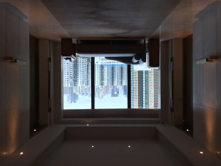 kerry hotel hong kong, elevator lobby view