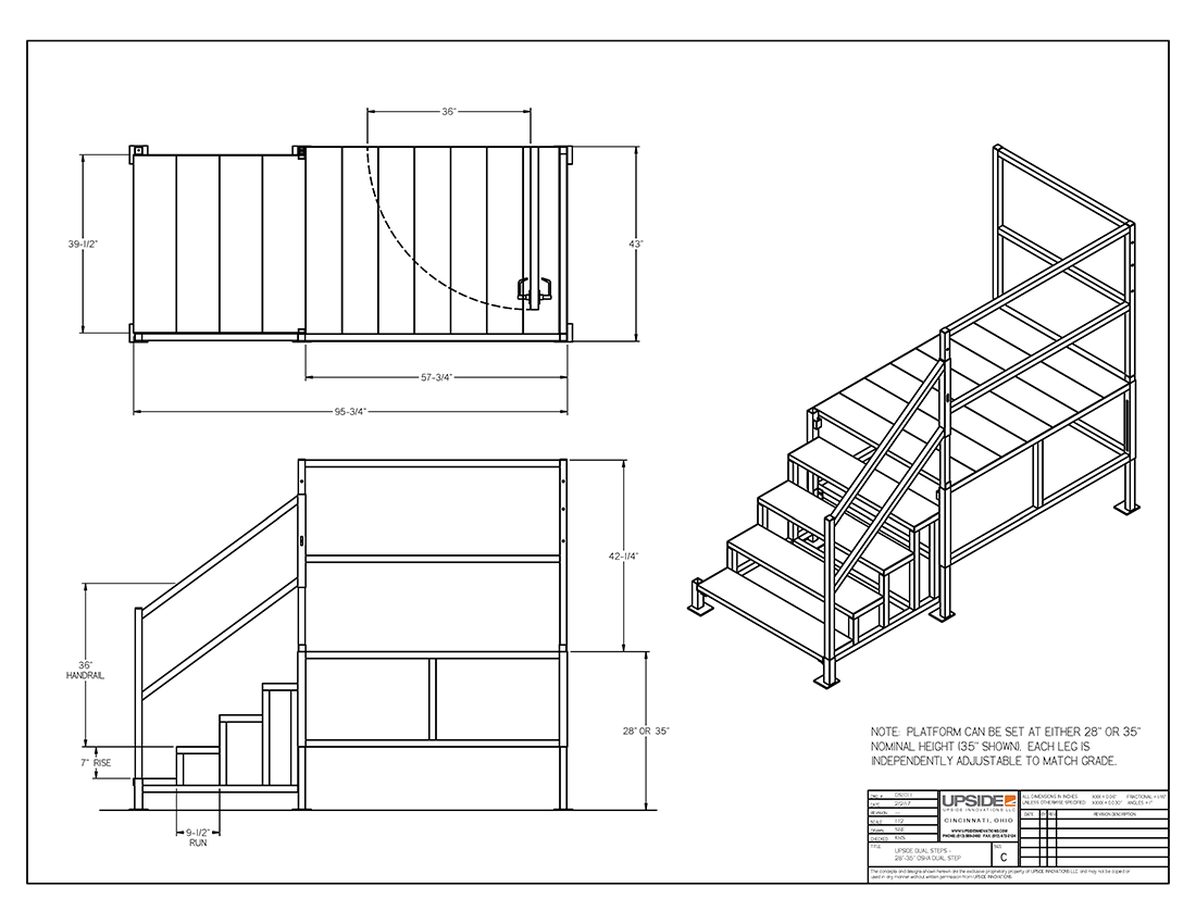 Portable Stairs For Mobile Office