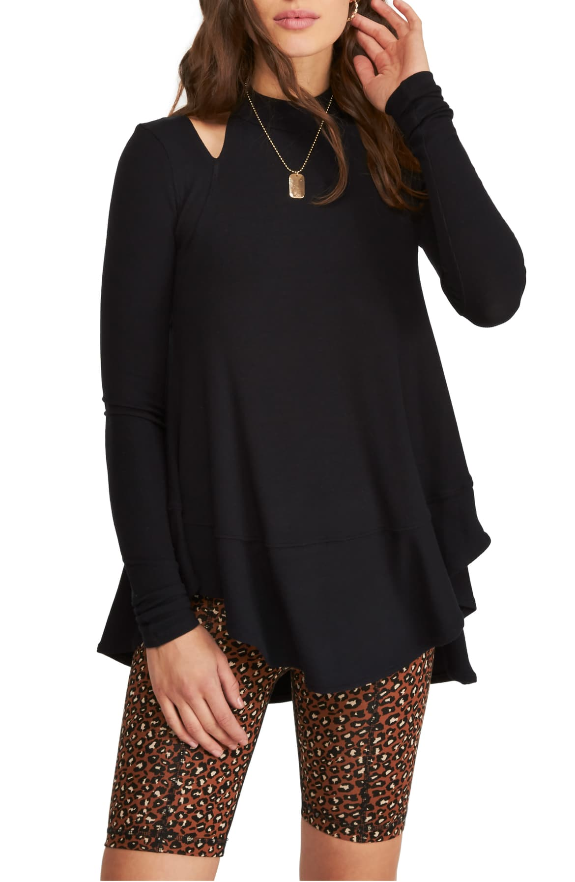 Downtown Girl Cutout Tunic