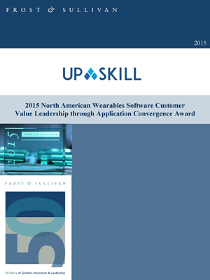 2015 North American Wearables Software Customer Value LEadership through Application Convergence Award