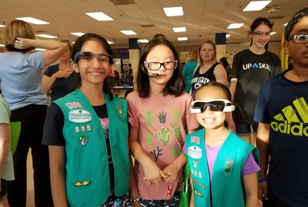 Girl scouts using augmented reality from Upskill