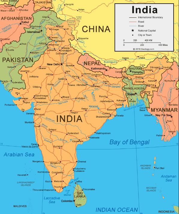 भारत का भूगोल india geography and india map