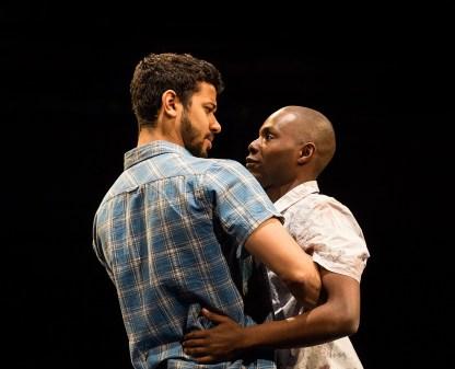 Robert Gilbert as Sam and Fiston Barek as Dembe  ©Jonathan Keenan
