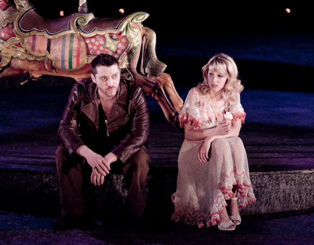 ©Graeme Cooper Ben Batt (Cash) and Katie Moore (Caroline) in The Funfair