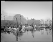1989_ workboats in fog at harbor-Edit