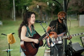 Jessie playing a 3 hour set with her band Amber North at Great Frogs Winery in Annapolis.