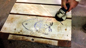 Grinding Steel for rust piece titled _Marshall__39