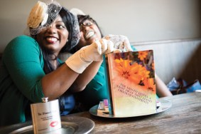 """Willnona and Jade at Dry 85 in Annapolis disscussing their book, """"The Miss-Fit Guides: A Sassy Sway That Leaves Crooked Footprints"""" [2018]"""