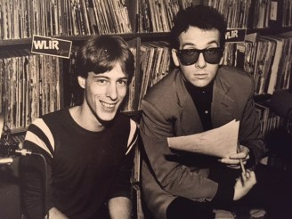 Bob with Elvis Costello at WLIR