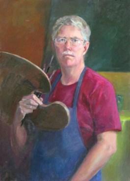 David Lawton - Self-Portrait, oil, 34x25
