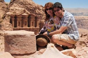 Mike and Nancy in Petra, Jordan.