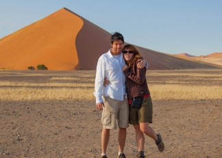 Mike and Nancy at Sossusvlei, Namibia.