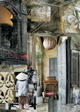 Lantern (Vietnam)- archival inkjet print on mulberry paper (photomontage) Image courtesy of Celia Pearson