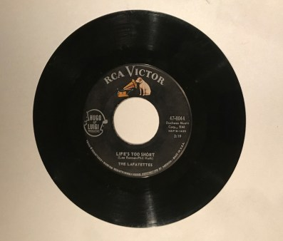"""Life's Too Short"" record by the Lafayettes. Courtesy photo"