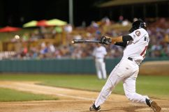 ValleyCats shortstop Michael Wielansky swings at a pitch on Thursday. Photo: Robert Dungan/The Upstate Courier