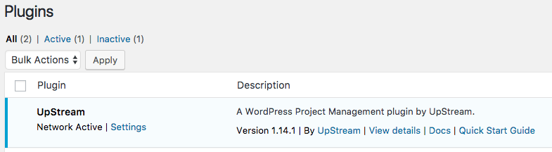 WordPress plugins network active in single site