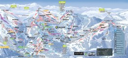 Piste map Les Gets