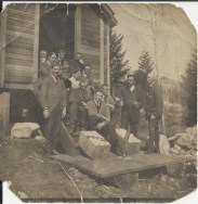 Work Party at Crystal Hall 1907. Picture is courtesy of Gwen Arnett
