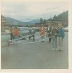 Float entered in Nelson's 1966 midsummer bonspile parade  -Patsy Ormond files