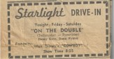 Starlight Drive-In Ad NDN July 26 1962