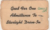 Starlight Drive-In Ticket-Patsy Ormond files