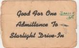 Starlight Drive-In Ticket-Patsy Ormond files