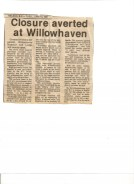 Threats of closure in the 1980's Nelson Daily News article-June 15,1981 Mary Carne files