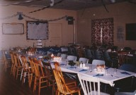 Interior of St. Andrew's by the Lake Church Hall Ready for a Wedding Dinner-1983 Photo Credit-Patsy Ormond