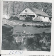 1956 bridge wash-out - Fred and Audrey Heddle Collection