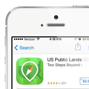 U.S. Travel App Icon Design for SmartPhones