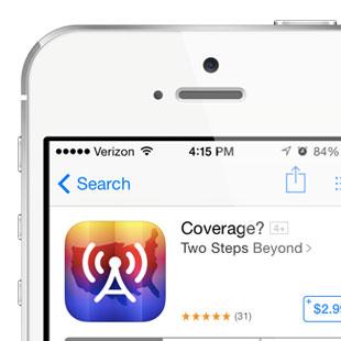 Cell Coverage App Icon Design Illustration