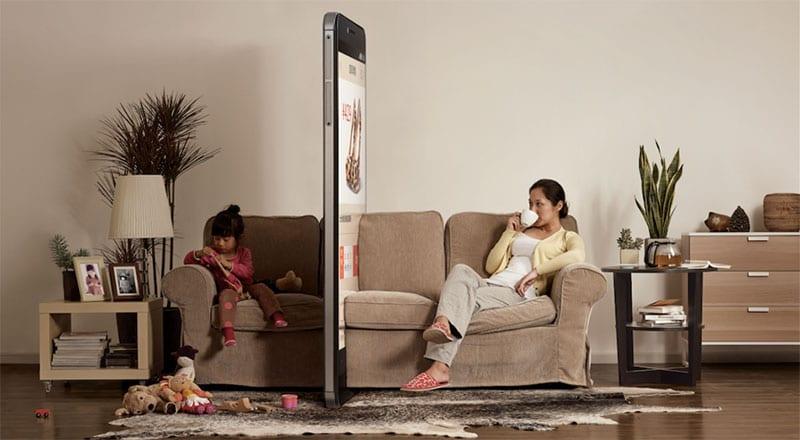 Sacar do telemóvel durante uma conversa, é erguer uma parede
