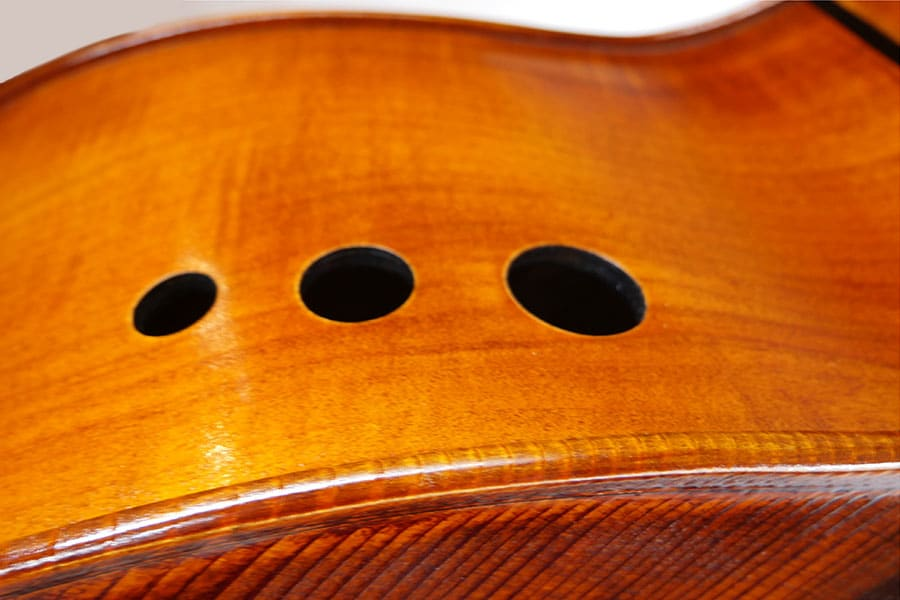 Upton Ergo Double Bass Sound Ports Detail