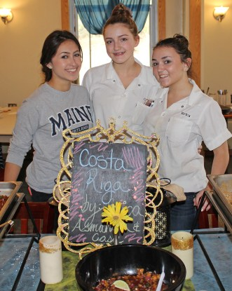 """Asmahan Oliva of Northbridge, Casie Uhlman of Upton, and Erica """"Riga"""" Nordstrom of Millbury took inspiration from Erica's nickname and dubbed themselves Team Costa Riga."""