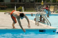Diving into LGCC pool