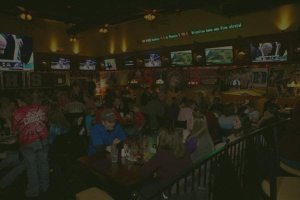 Plenty of TVs to watch the game