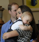 Cuddle Time For Prince George As Mom Kate Middleton Smiles