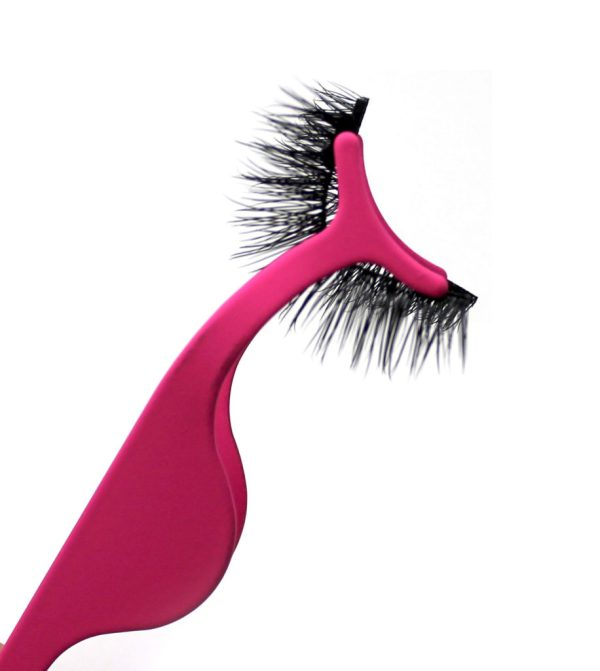 Pink Magnetic Eyelash Application Tool