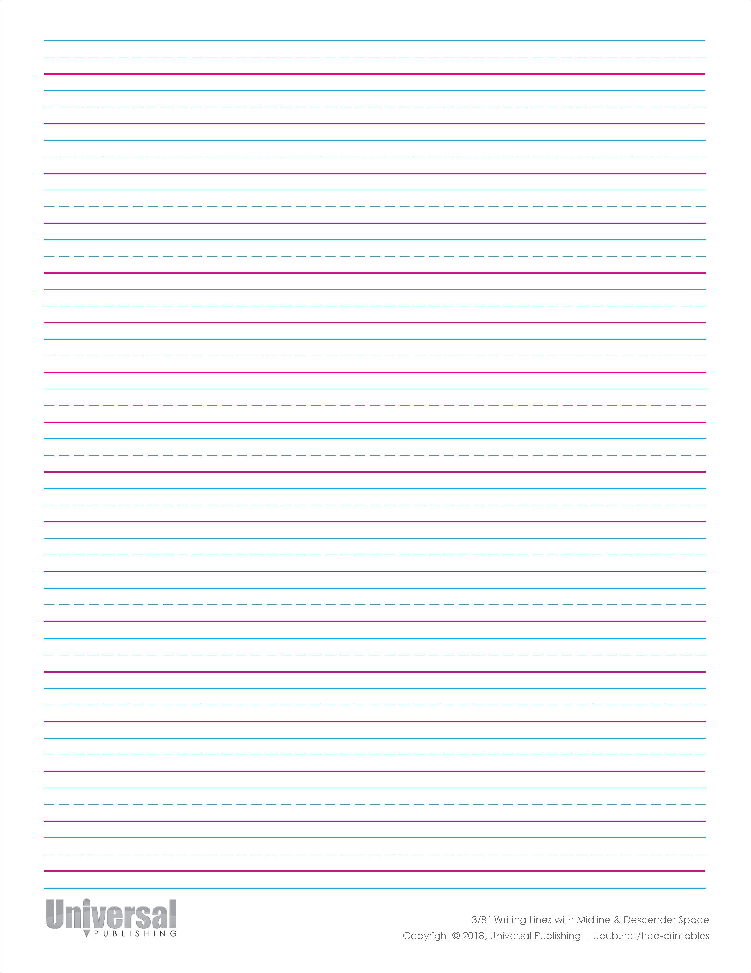 Writing Lines Free Printables