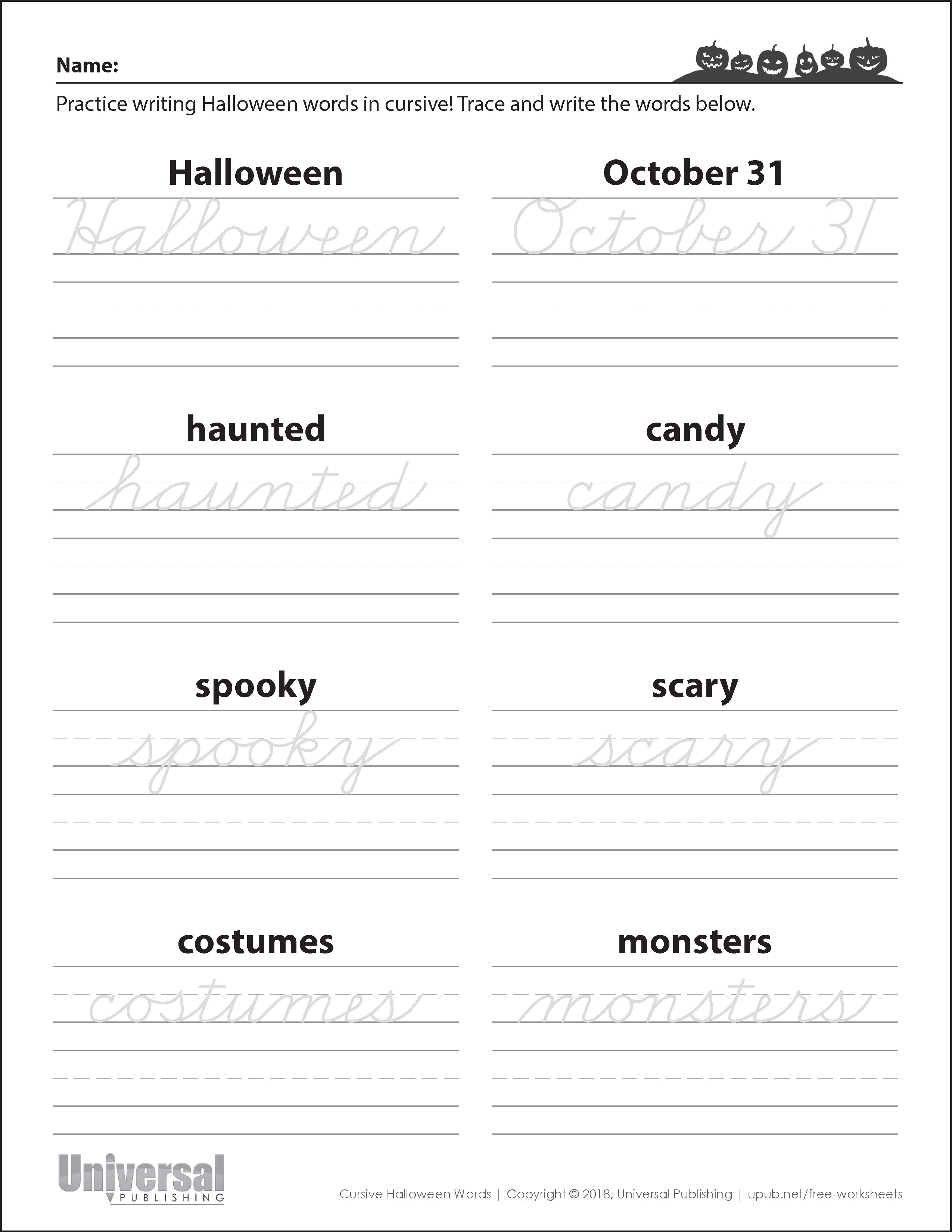 Halloween Activities Free Printables