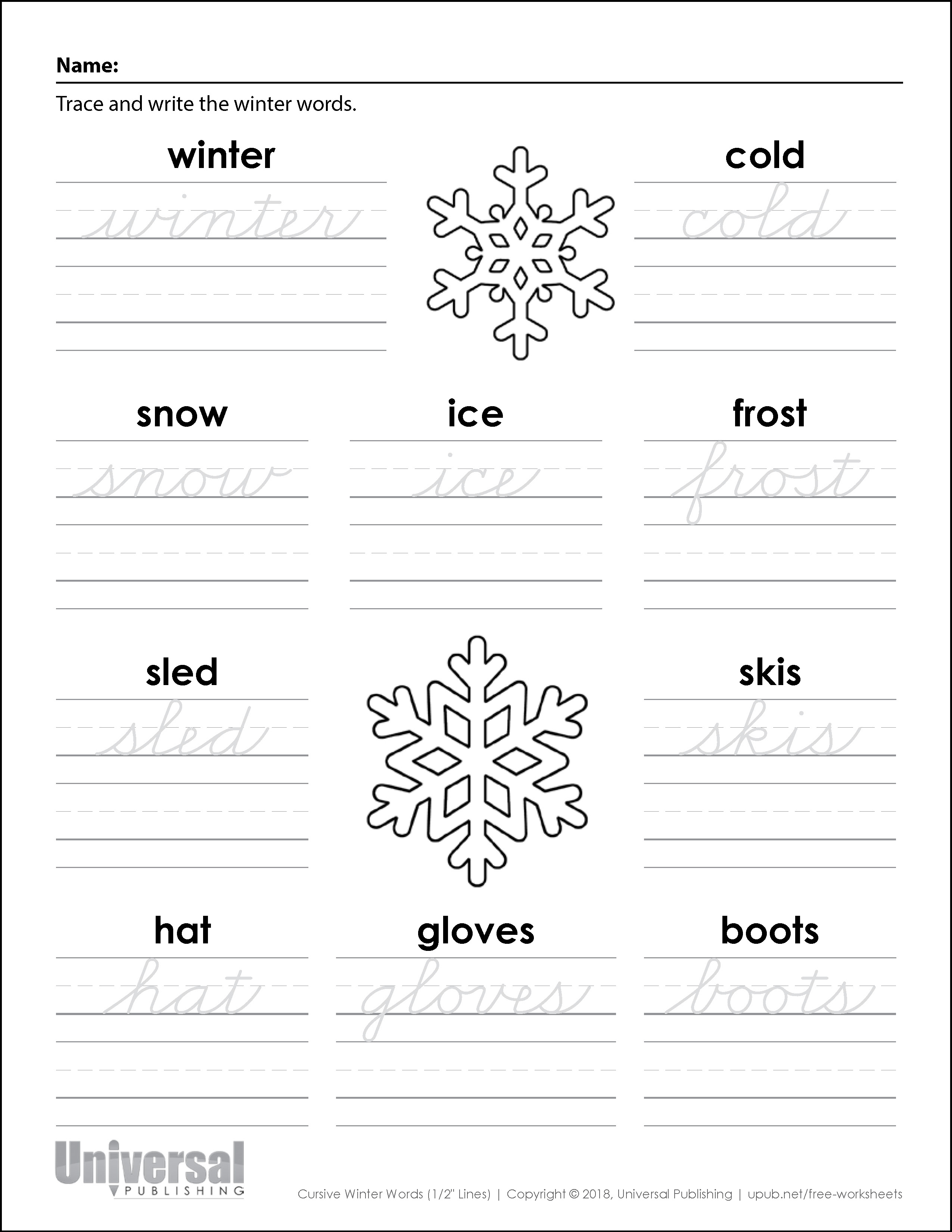 Winter Activities Free Printables