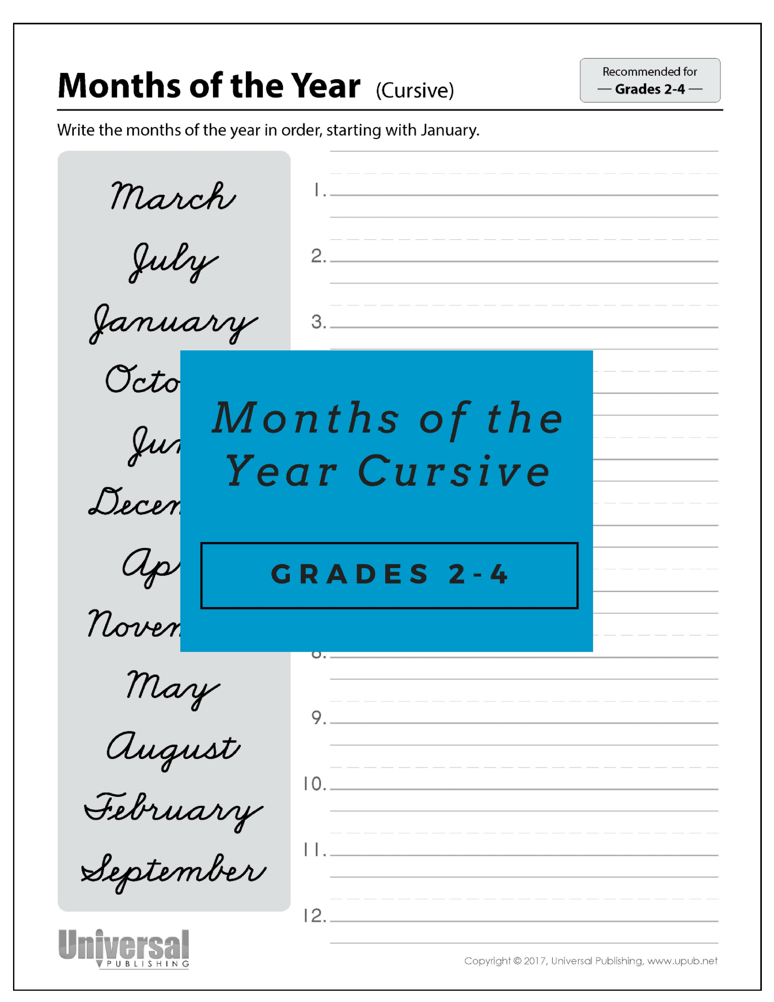 Awesome Cursive Handwriting Worksheets For Older Students