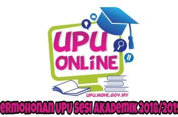 Permohonan UPU Sesi Akademik 2018/2019