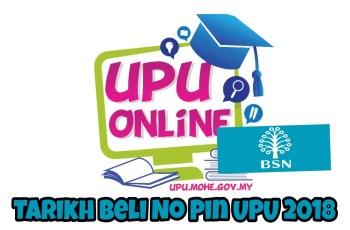 Tarikh Beli No Pin UPU 2018