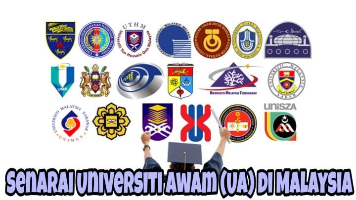 Senarai Universiti Awam (UA) dan IPTA di Malaysia