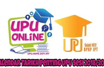 Kalendar Tarikh Penting UPU Sesi 2018/2019