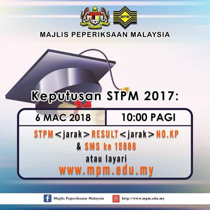 Semakan Keputusan STPM Tahun 2018 (Keseluruhan) Online & SMS
